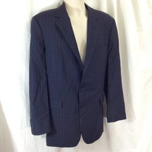 Brook Brothers Black Pinstripe Suit Jacket 42L